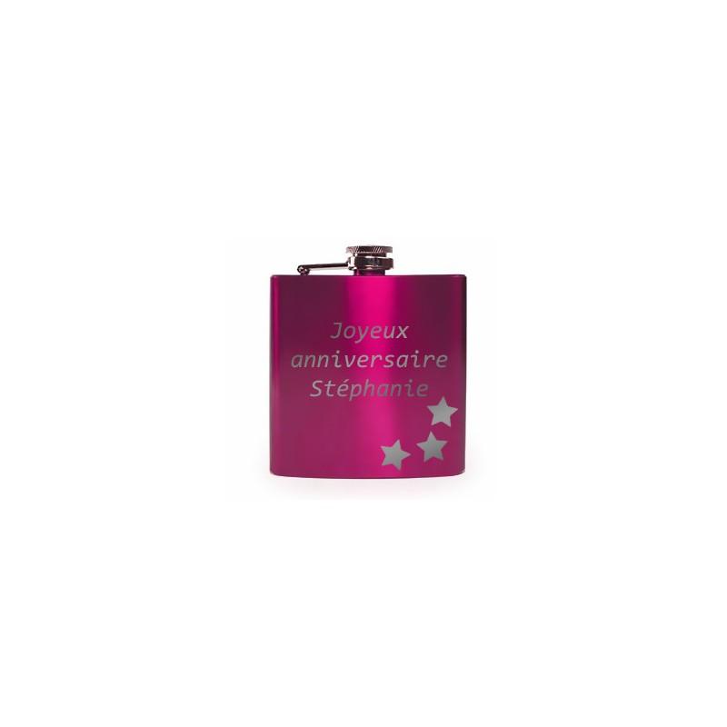 Flasque rose vernis originale