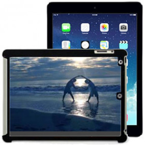 Coque Photo iPad Air Bord Noir