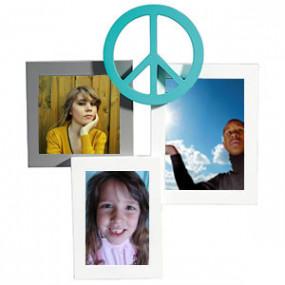 Cadre Photo Triple Peace