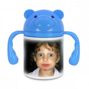 Gourde Cochon Bleu pour Enfant