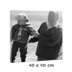 Tableau carré de 40 cm avec photo noir et blanc