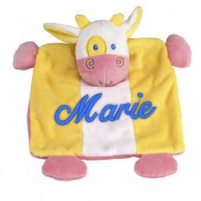 Doudou Potache la Vache Brodé
