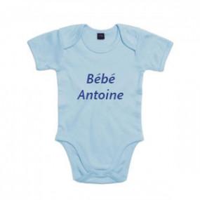 Body Bébé Bleu Brodé