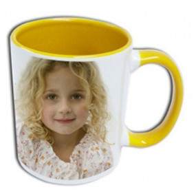 Mug Photo Jaune Clair