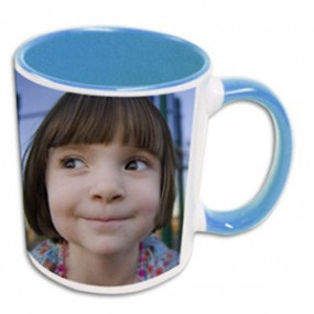 Mug Photo Bleu Clair