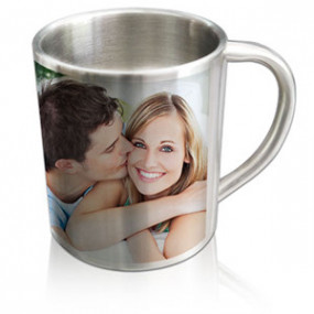 Petit Mug Photo Inox