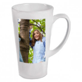 Grand Mug Photo Conique Blanc