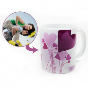 Mug Photo Blanc Bouquet de...