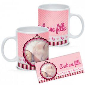 Mug Photo Blanc Naissance...