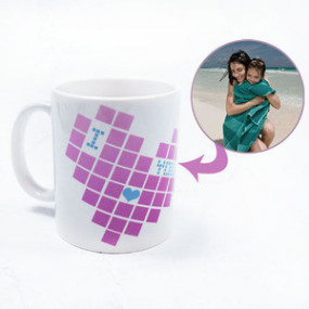 Mug Photo Pixel Coeur