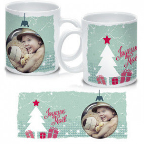 Mug Photo Boule de Noël