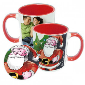 Mug Photo Rouge Père Noël