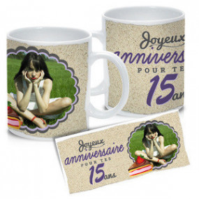 Mug Photo Blanc Joyeux...