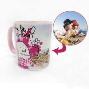 Mug Photo Rose Fête des mères