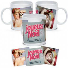 Mug Photo Noël Deux Photos