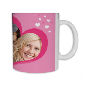 Mug Photo Coeur Rose