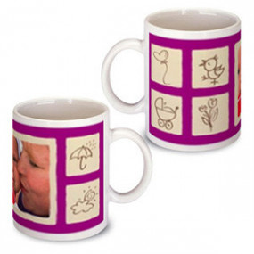 Mug Photo Naissance Rose