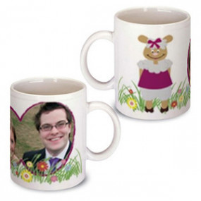 Mug Photo Lapin Rose