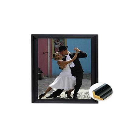 Toile photo 30 cm encadrée dans une caisse noire
