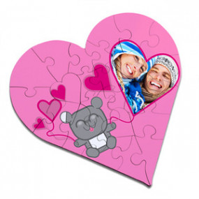 Puzzle Cœur Nounours d'Amour