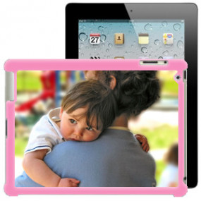 Coque Photo iPad Bord Rose