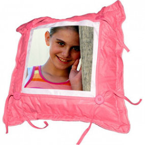 Coussin Bouton Rose