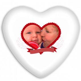 Coussin Coeur Amour Pour la...