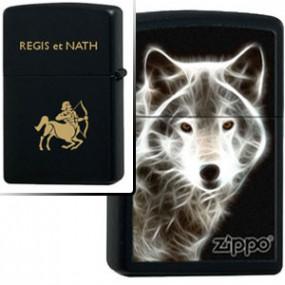 Briquet Zippo White Wolf