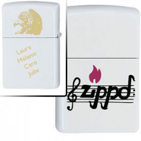 Briquet Zippo Music Notes