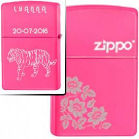 Briquet Zippo Flowers Rose...
