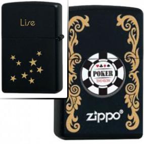 Briquet Zippo Floral Poker