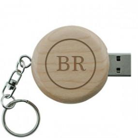Clé USB en bois Ronde 8 Go