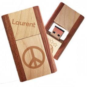 Clé USB en bois Réversible...