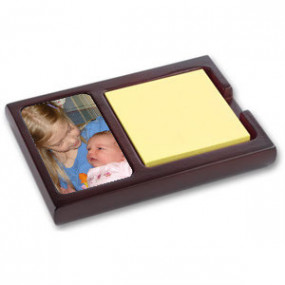 Porte Post-It Deluxe Acajou