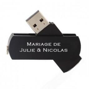 Clé USB Twister 8 Go Noir