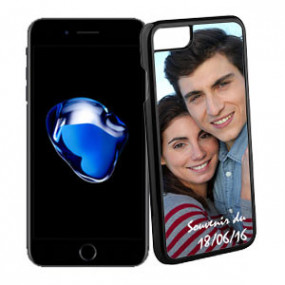 Coque Photo iPhone 7 Bord Noir