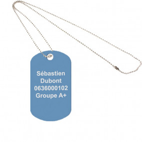 Dog tag original bleu clair