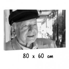 Toile photo noir et blanc 80x60 cm