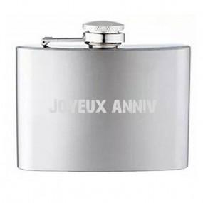 Flasque argentée 120 ml personnalisée