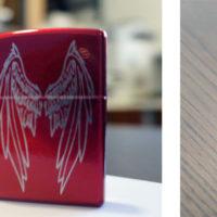 Briquet zippo gravé par laser ou percussion